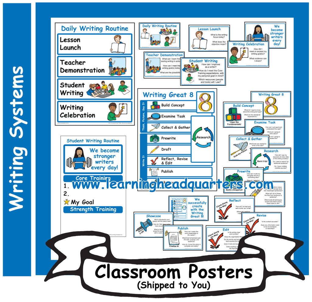 4: Writing Systems - Poster Set