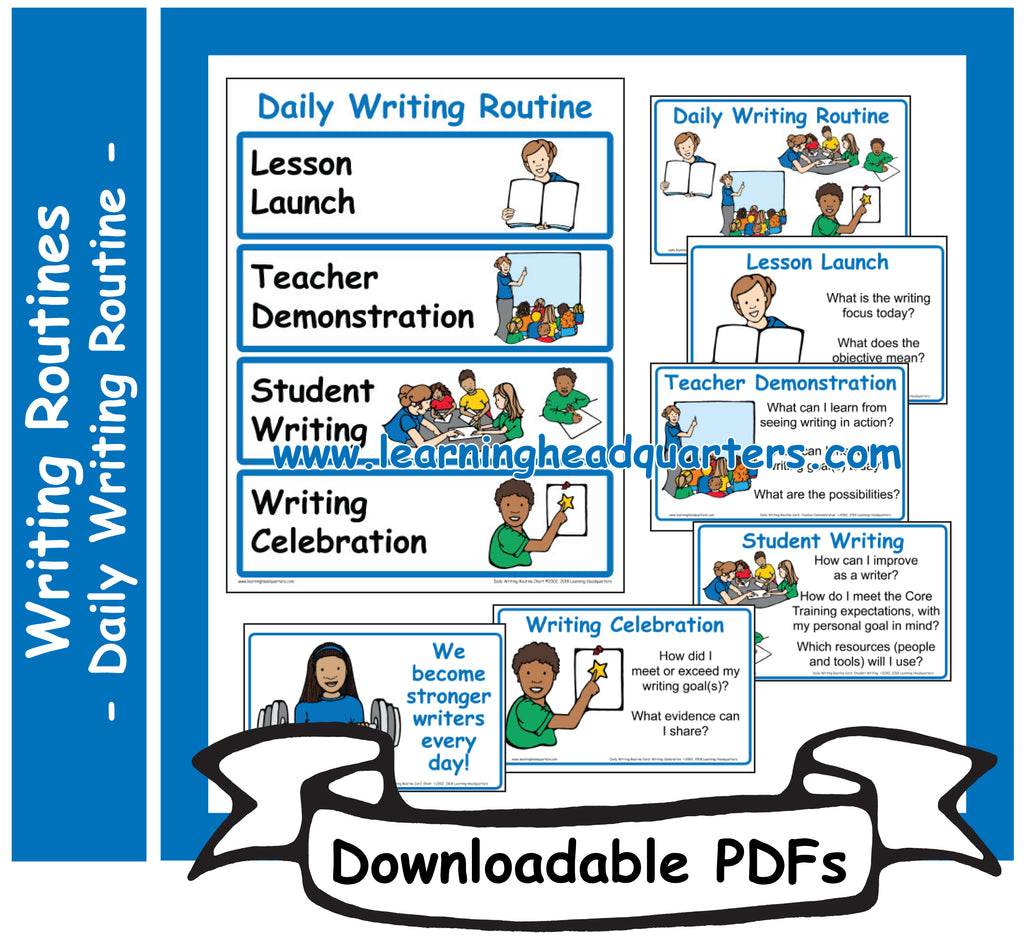 4: Daily Writing Routine - Downloadable PDFs