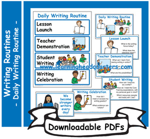2: Daily Writing Routine - Downloadable PDFs