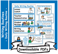 1: Daily Writing Routine - Downloadable PDFs