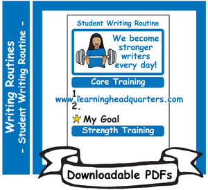 2: Student Writing Routine - Downloadable PDFs