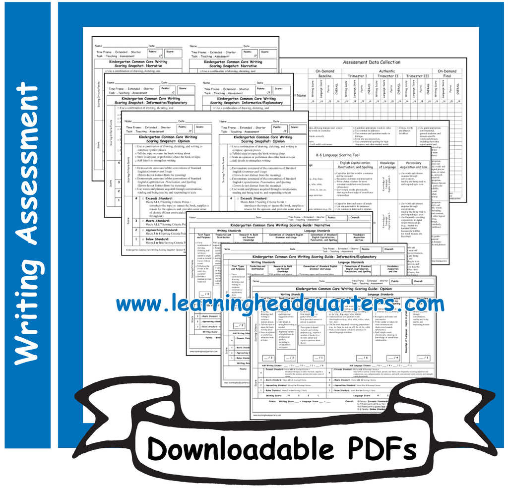 K: Writing Scoring Guides - Downloadable PDFs