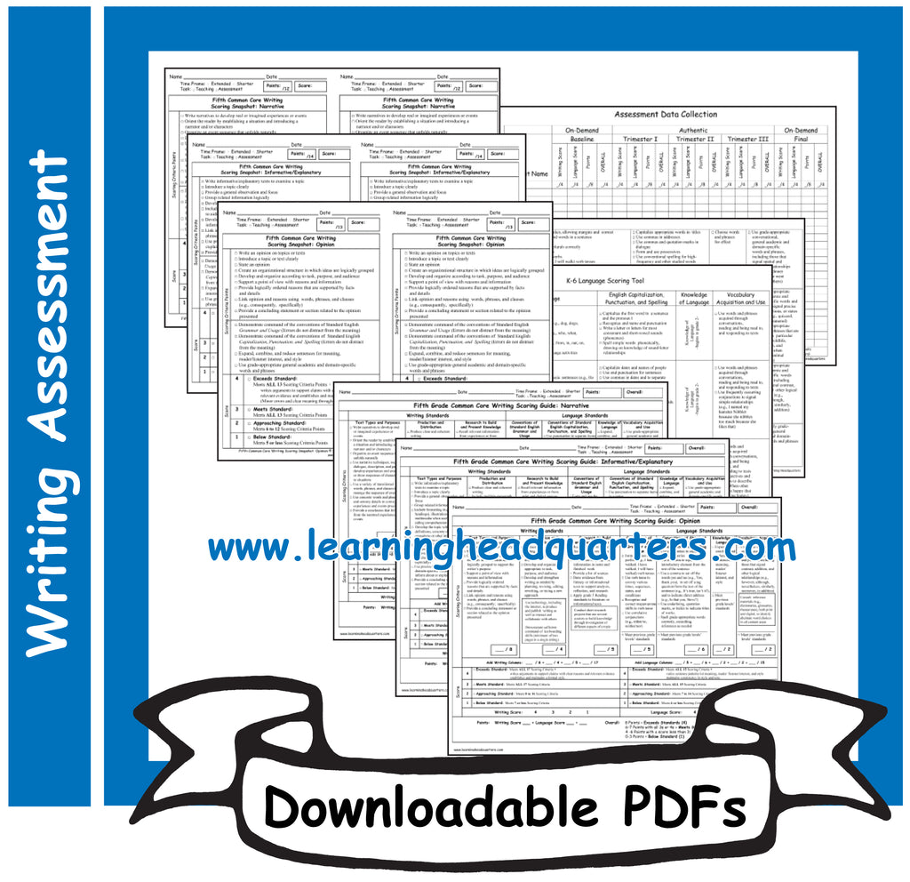 5: Writing Scoring Guides - Downloadable PDFs