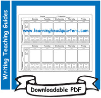 K: Flexible Writing Teaching Guide Template - Downloadable PDF