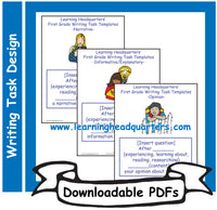 1: Writing Task Templates - Downloadable PDFs