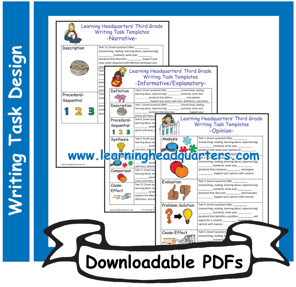 3: Writing Task Templates - Downloadable PDFs