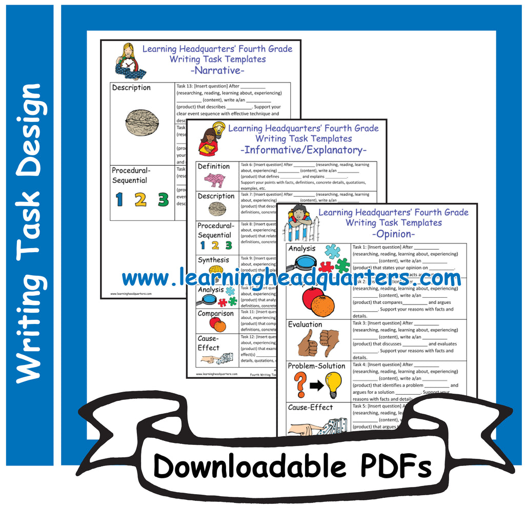 4: Writing Task Templates - Downloadable PDFs
