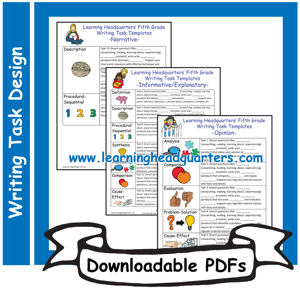 5: Writing Task Templates - Downloadable PDFs