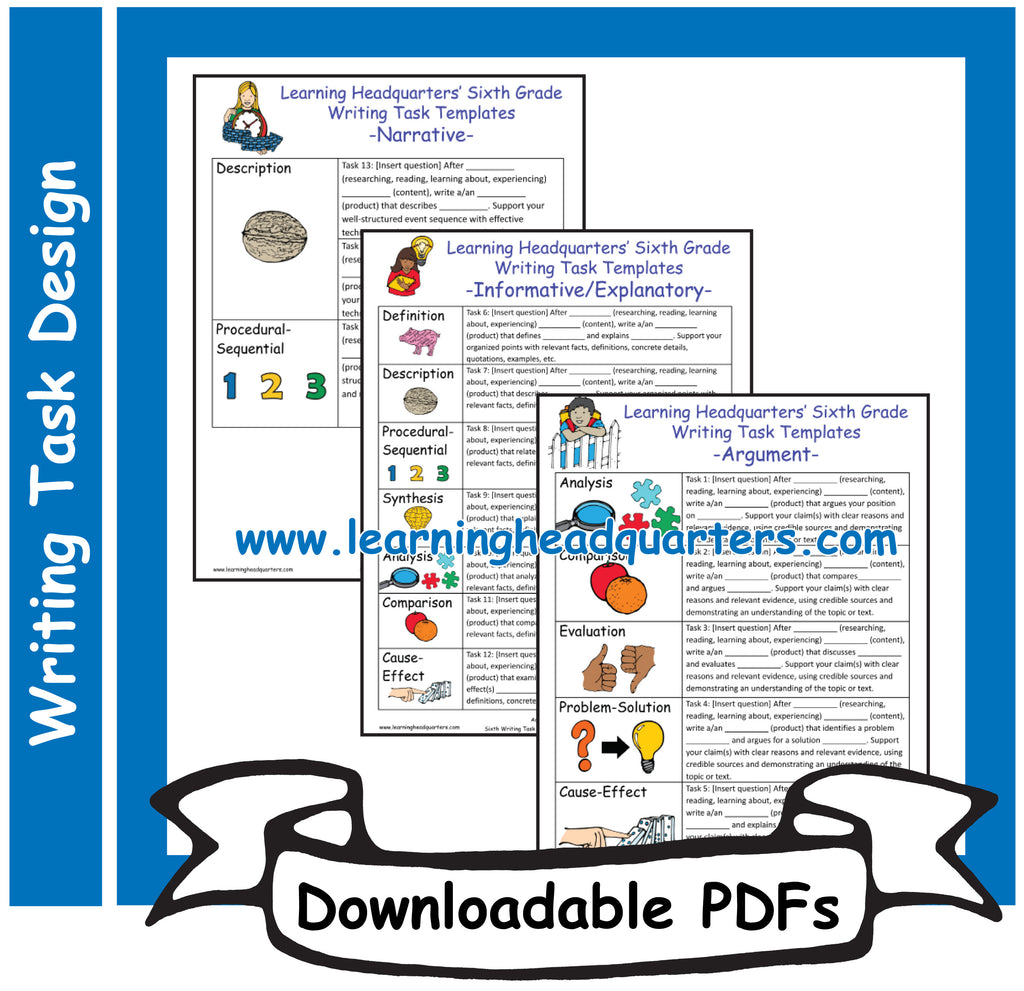 6: Writing Task Templates - Downloadable PDFs
