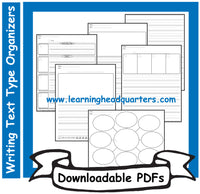 1: Writing Text Type INITIAL Organizers - Downloadable PDFs