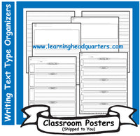 1: Writing Text Type Draft & Publishing Organizers - Poster Set