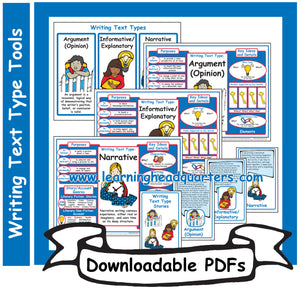 4: Writing Text Type Tools - Downloadable PDFs