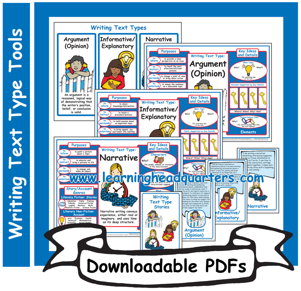 5: Writing Text Type Tools - Downloadable PDFs