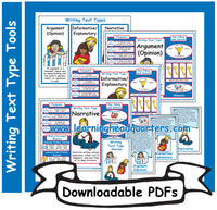 3: Writing Text Type Tools - Downloadable PDFs