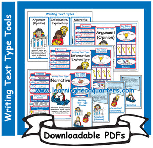 1: Writing Text Type Tools - Downloadable PDFs
