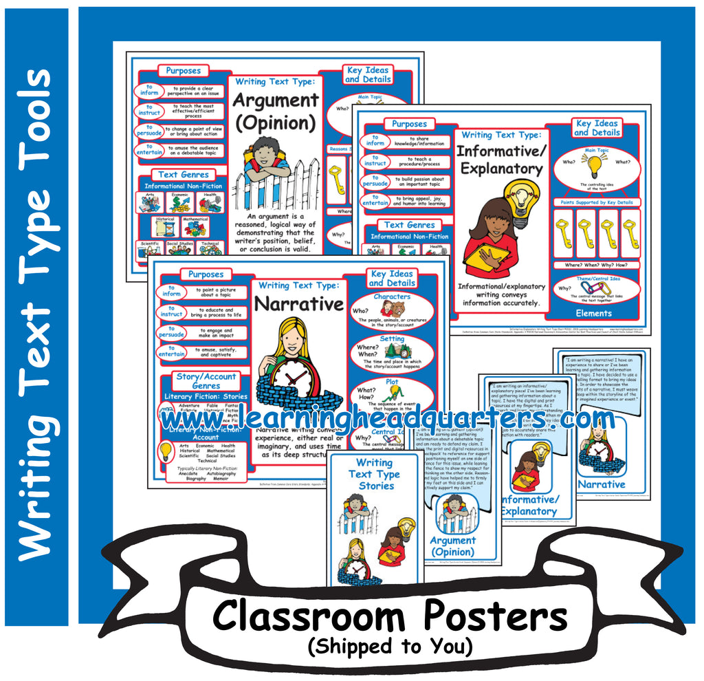 2: Writing Text Type Tools - Poster Set