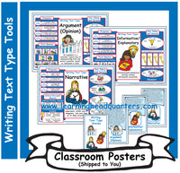 6: Writing Text Type Tools - Poster Set
