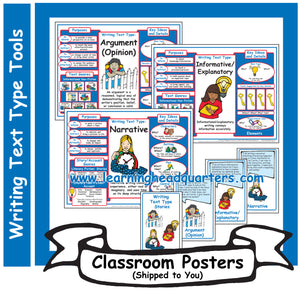 1: Writing Text Type Tools - Poster Set