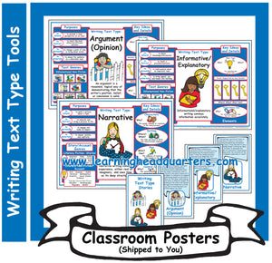 3: Writing Text Type Tools - Poster Set