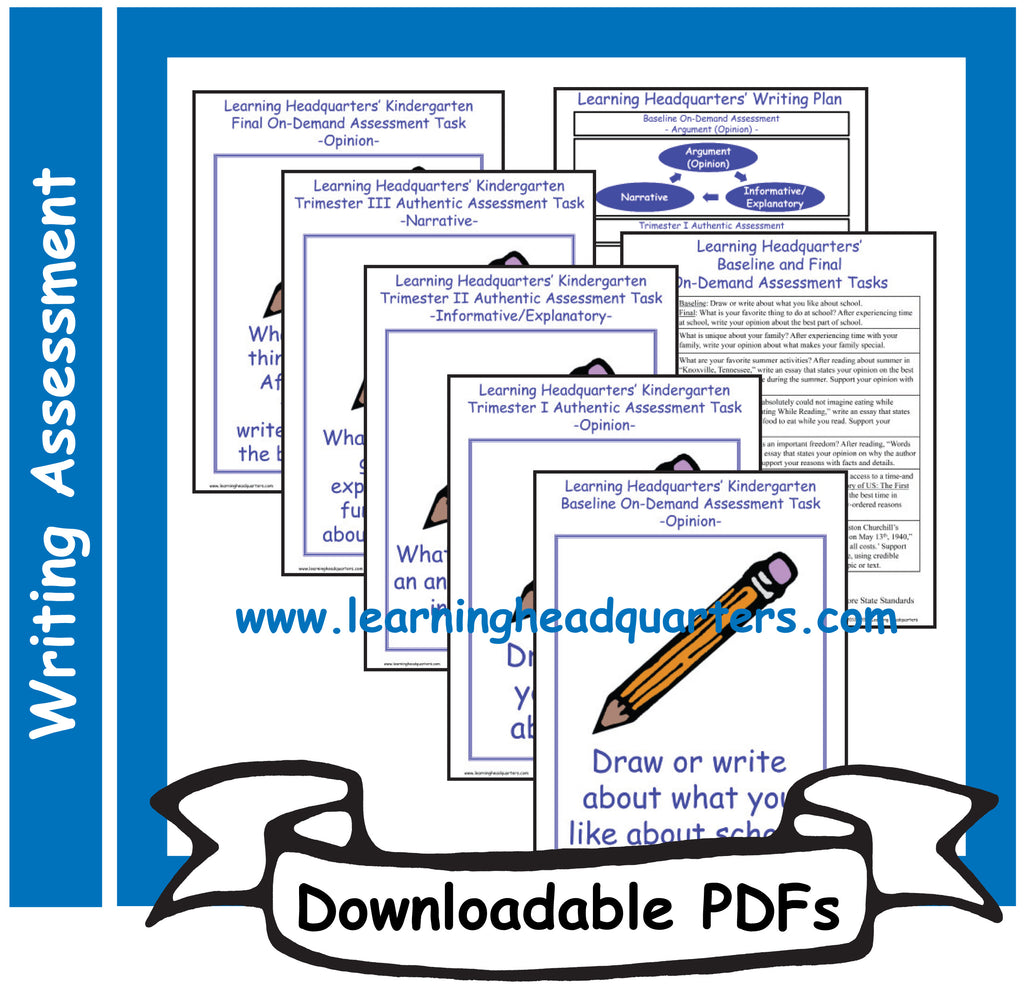 K: Writing Assessment Systems  - Downloadable PDFs