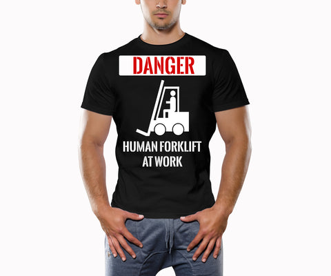 Danger Human Forklift At Work