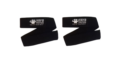 YAYB Pro Deadlift Straps Pair (for all pulling movements) +Free 35ml liquid chalk