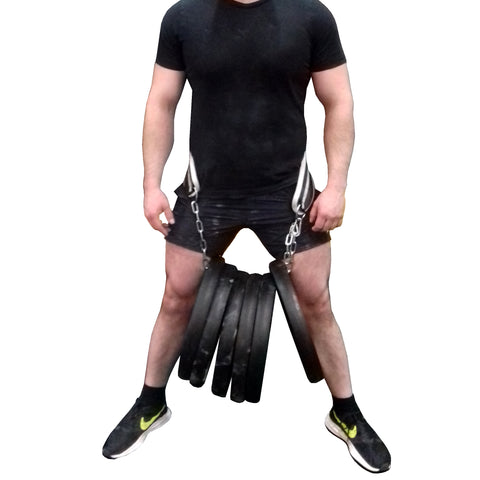 YAYB Pro Hardcore Dipping/ Pull up Belt tested to 120KG + (comes with free 35ml liquid chalk)