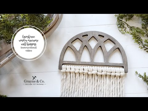 Load and play video in Gallery viewer, Farmhouse Window Macrame Wall Hanging DIY Kit