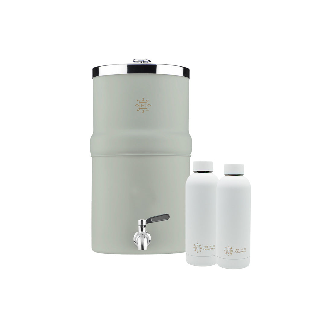 Carbon Filter Water Decanter With Two Water Bottles