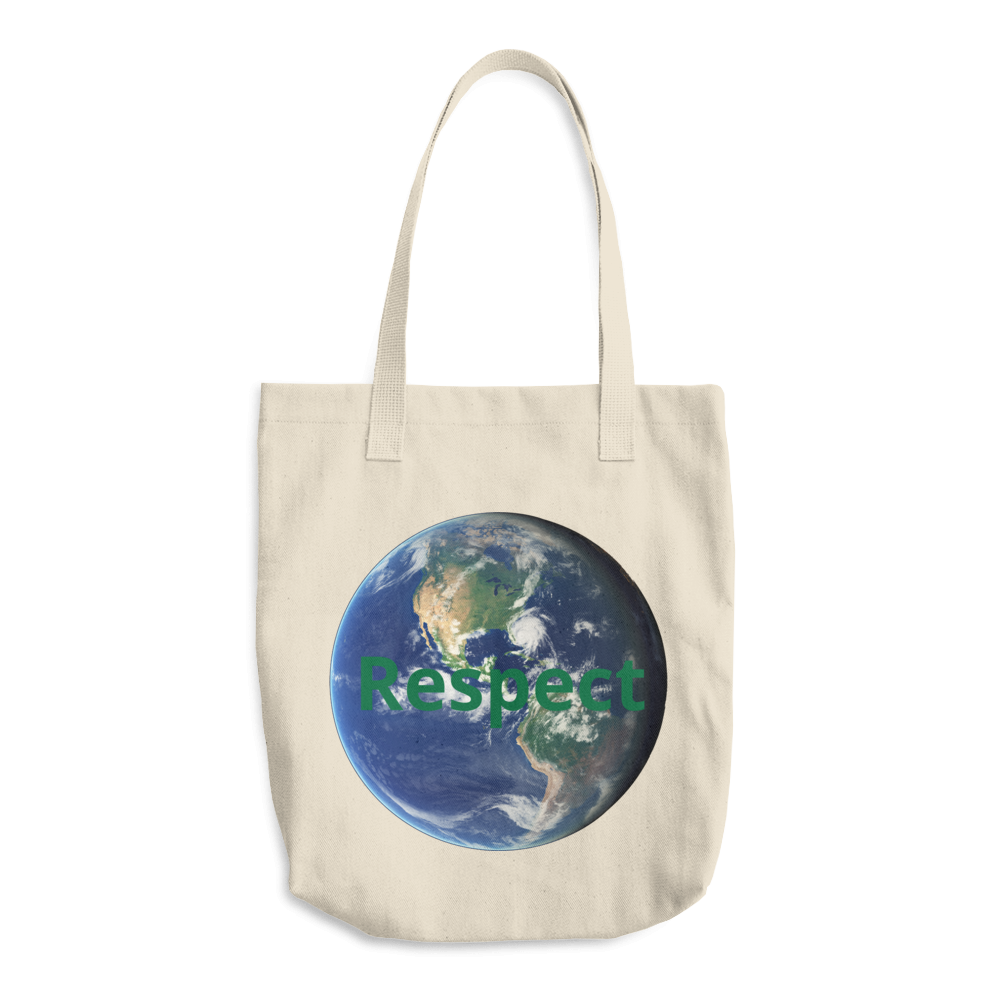 Respect EARTH - Cotton Tote Bag Made in USA