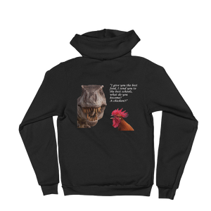 T-Rex and Chicken Hoodie sweater-Made in the USA