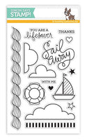 Simon Says Stamp Sailing Stamp Set w/ Sailboat Die