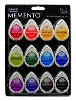 Memento Dew Drop Dye Ink Pads 12/Pkg - Gum Drops
