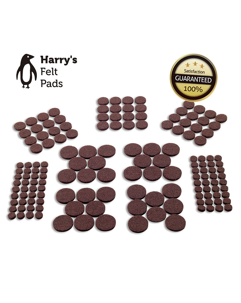 felt furniture pads 152 piece value variety pack brown harry s