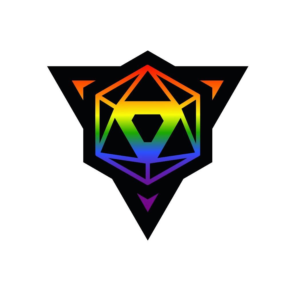 Die Hard Dice Pride Sticker - Rainbow