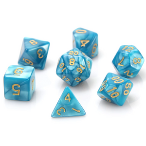 RPG Set - Teal Swirl w/ Gold