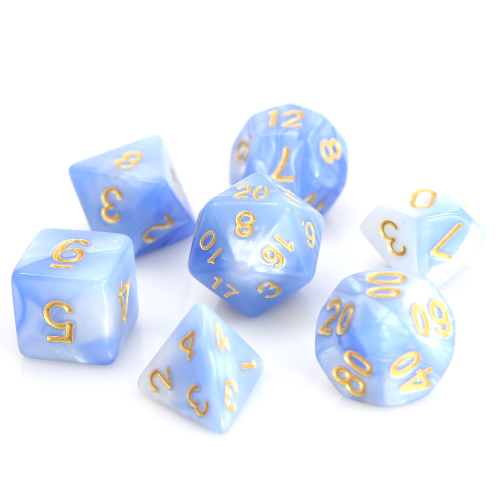 RPG Set - Blue/White Marble