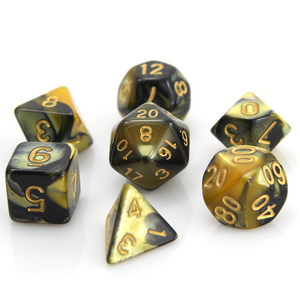 RPG Set - Yellow/Black Marble