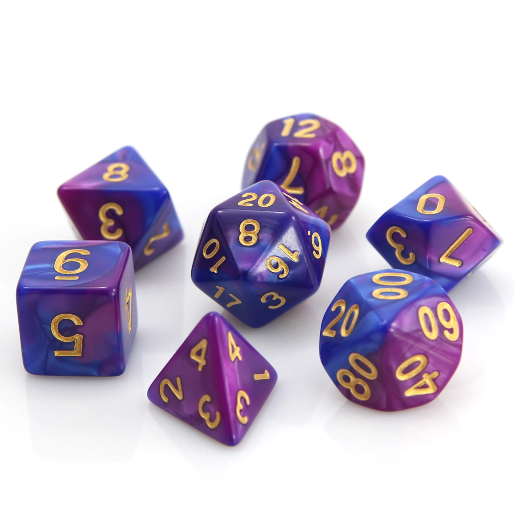 RPG Set - Purple/Blue Marble