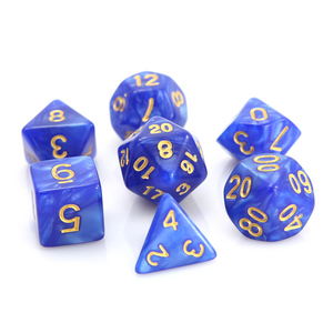 RPG Set - Blue Swirl w/ Gold