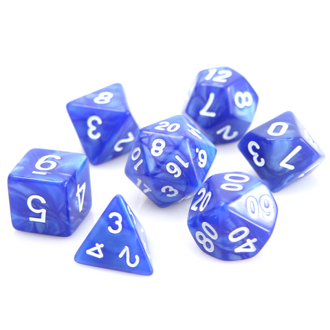 RPG Set - Blue Swirl w/ White
