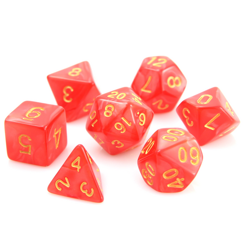 RPG Set - Red Swirl w/ Gold