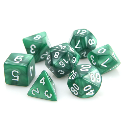 RPG Set - Dark Green Swirl w/ White