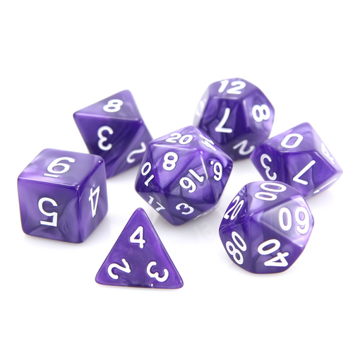 RPG Set - Purple Swirl w/ White