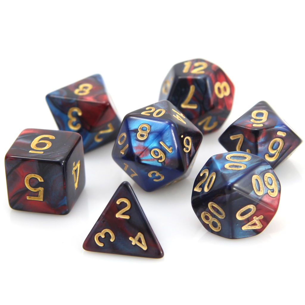 RPG Set - Red/Blue Marble
