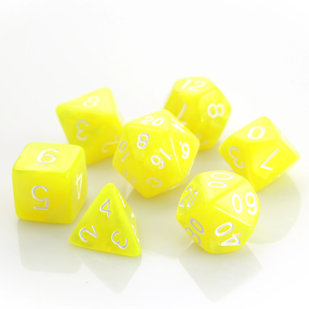RPG Set - Yellow Swirl w/ White