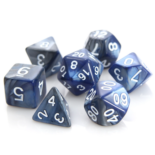 RPG Set - Silver/Blue Alloy