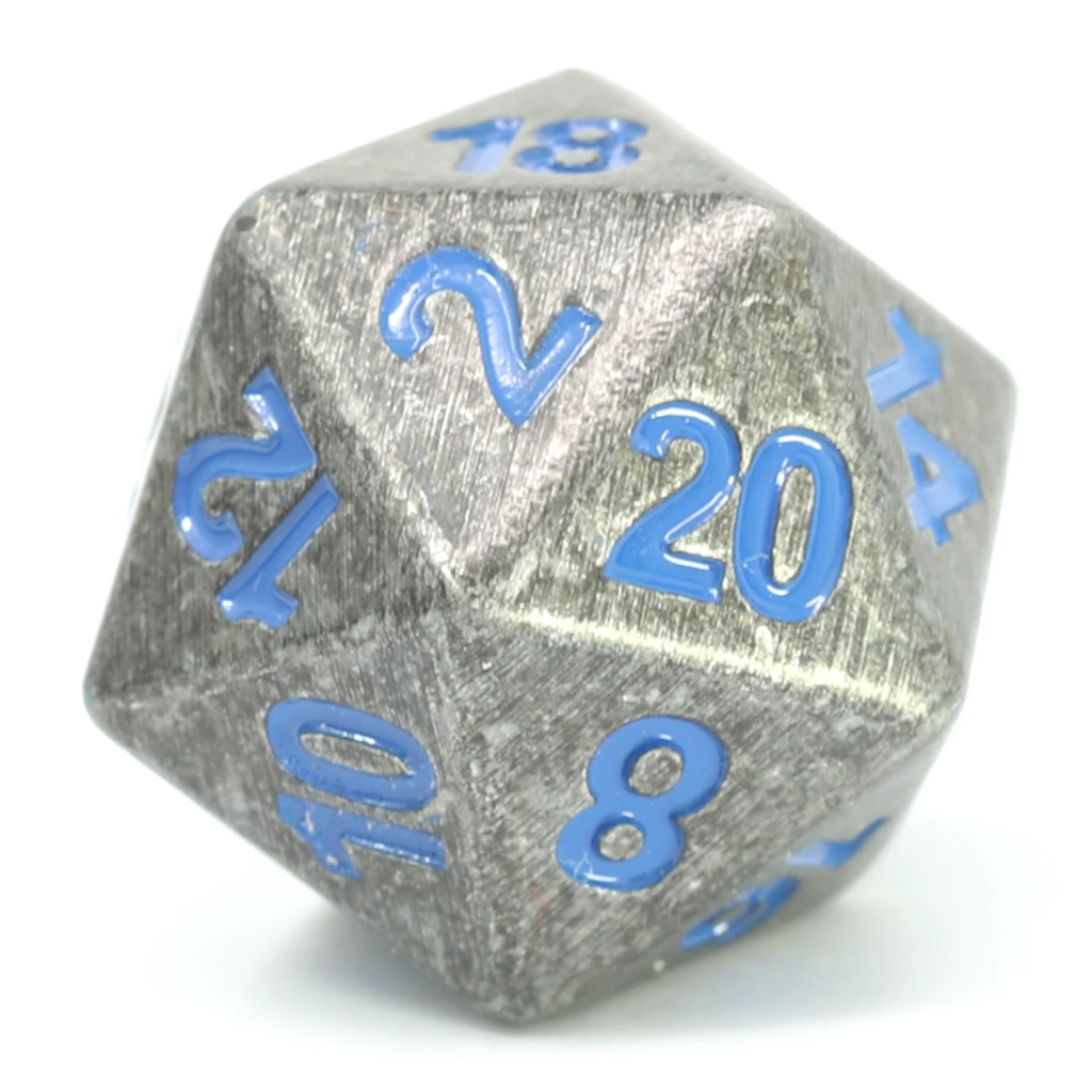 Single d20 - Forge Raw Steel w/ Paragon Blue