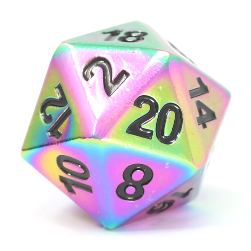 Single d20 - Forge Scorched Rainbow w/ Black