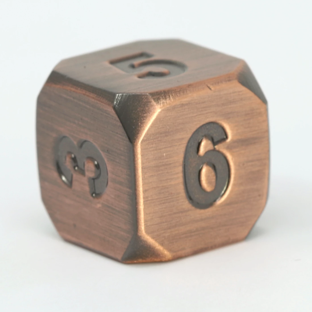 Single d6 - Forge Battleworn Copper